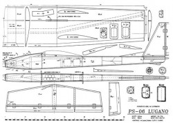 Lugano PS 06 model airplane plan