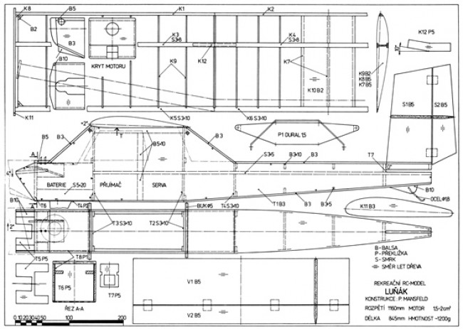 Lunak model airplane plan