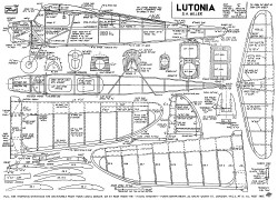 Lutonia 45in model airplane plan