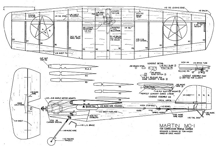Martin-MO-1-Aircraft Carrier Competition model airplane plan