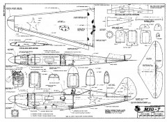 MIG-7 RCM-1270 model airplane plan