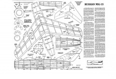 MIG-15 model airplane plan