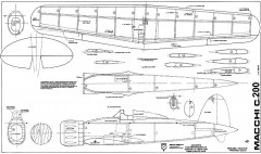 Macchi c200 model airplane plan