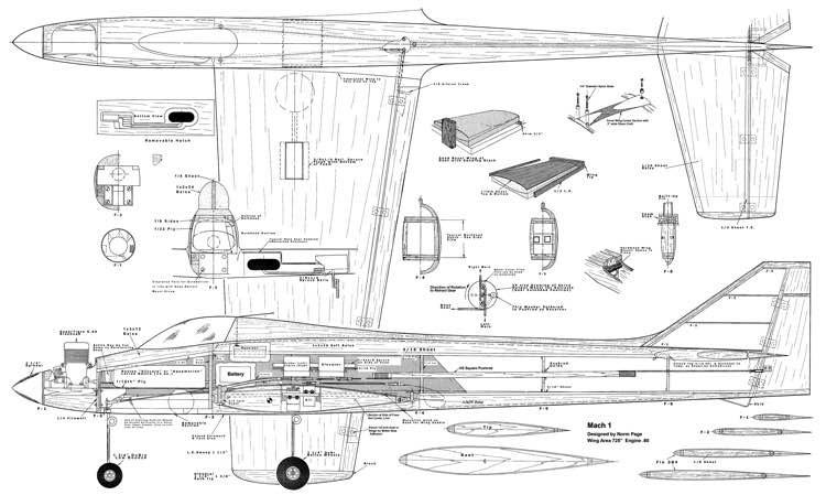 Mach One model airplane plan