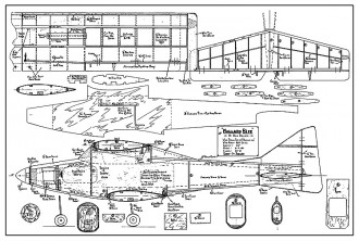 Mallard Bipe. model airplane plan