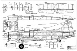 Martin AM-1 Mauler RCM-217 model airplane plan
