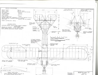 Martin TT model airplane plan
