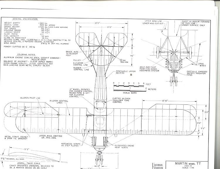 Martin TT model airplane plan