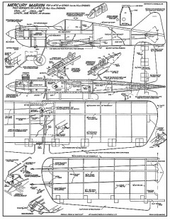 Marvin CL Mercury model airplane plan