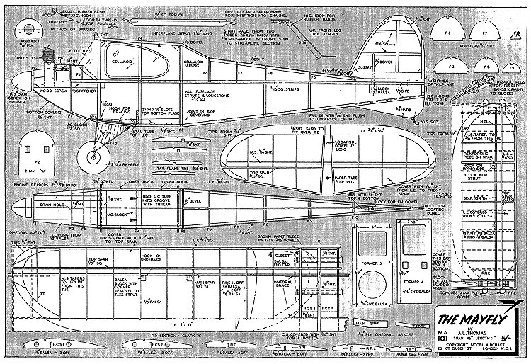 Mayfly model airplane plan