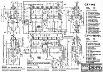 Mercedes Engine model airplane plan