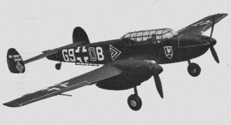 Messerchmitt BF 110 model airplane plan