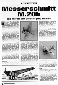 Messerschmitt M.20B model airplane plan
