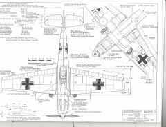 Messerschmitt Me-109 E3 model airplane plan