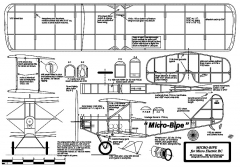 Micro-Bipe 22in model airplane plan