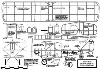 Micro-Bipe 22in model airplane plan