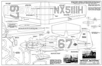 Midget Mustang model airplane plan