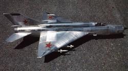 Mig-21MF model airplane plan