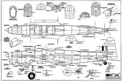 Miles M14A Magister RCM-219 model airplane plan