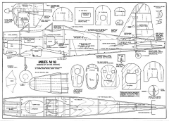 Miles M18 RC model airplane plan