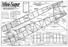 Mini-Super 48in model airplane plan