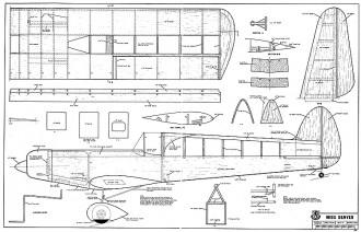 Miss Denver. model airplane plan
