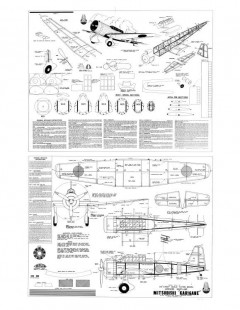 Mitsubishi Ki-15 Karigane model airplane plan