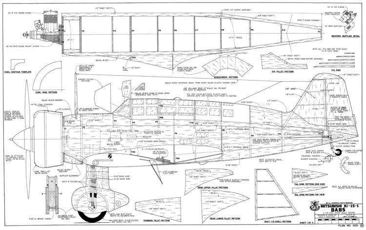 Mitsubishi Ki-15 Babs model airplane plan
