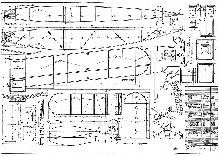 Monflorite (Borkenberge) model airplane plan