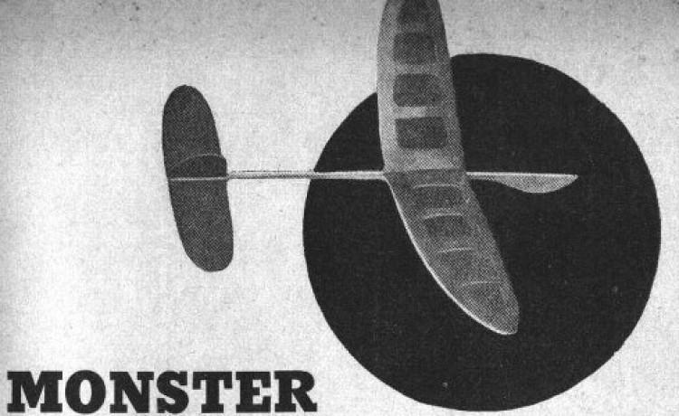 Monster model airplane plan