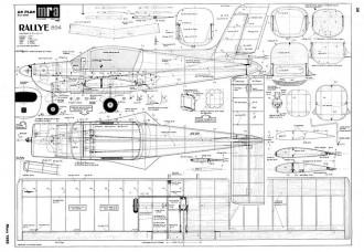 Rallye model airplane plan