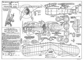 Morane 230 model airplane plan