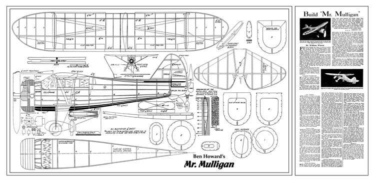 Mr Mulligan 22in model airplane plan