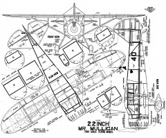 Mr Mulligan 22in model airplane plan