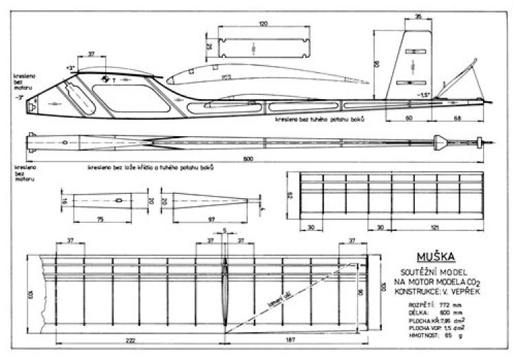 Muska model airplane plan