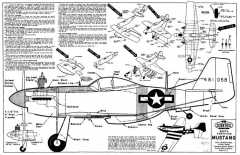 Mustang model airplane plan