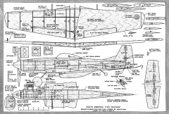 Mustang Full-Size model airplane plan