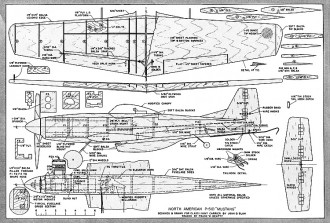 Mustang U/C Class I Navy Carrier. model airplane plan