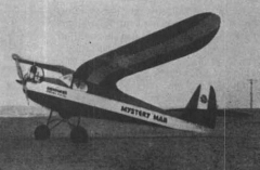 Mystery Man model airplane plan