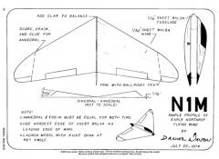NIM model airplane plan