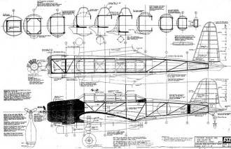 Nakajima Kate model airplane plan