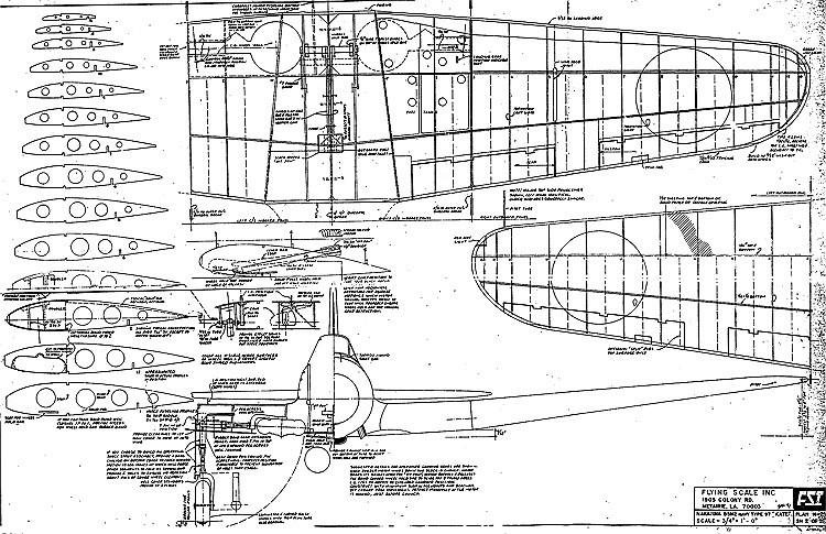 Nakajima Kate model airplane plan