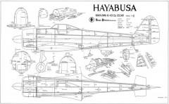 Nakajima Ki-43 model airplane plan