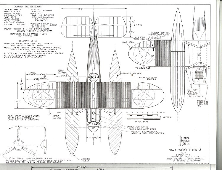 Navy Wright NW-2 model airplane plan
