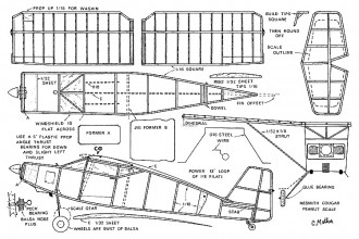 Nesmith Cougar peanut model airplane plan