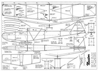 Nestor model airplane plan