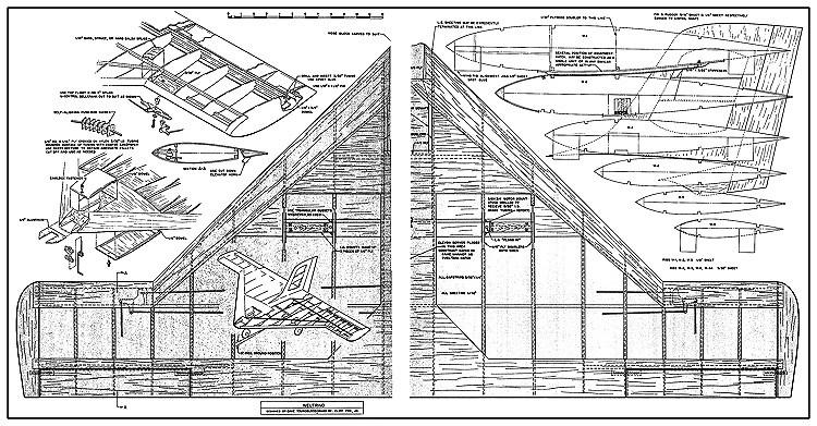 Neutrino RC AAM model airplane plan