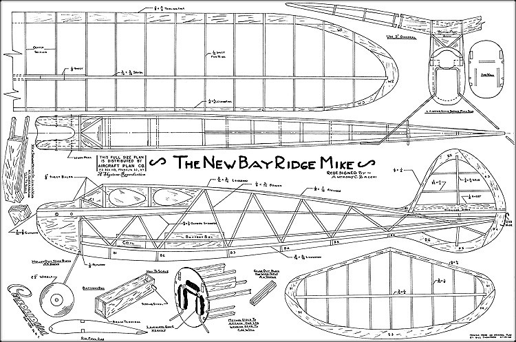 New Bay Ridge Mike model airplane plan