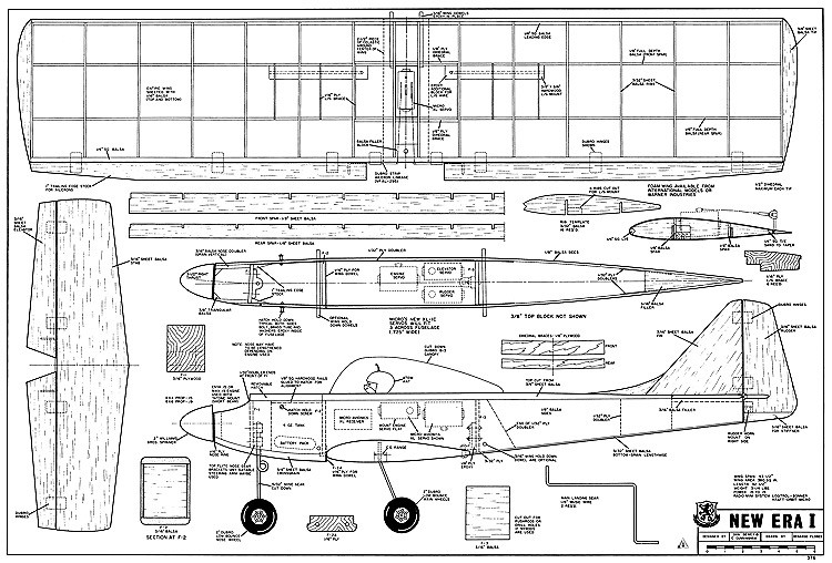 New Era I RCM-376 model airplane plan