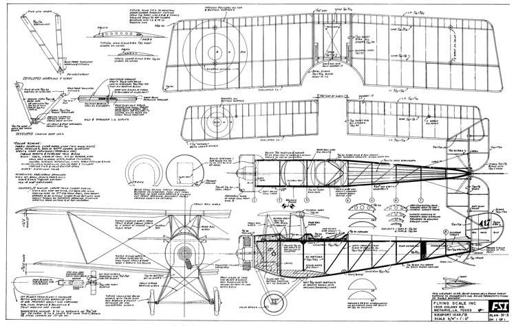 Nieuport 10AR/12 model airplane plan